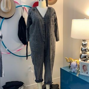 Denim Acid wash boil suit (jumpsuit)